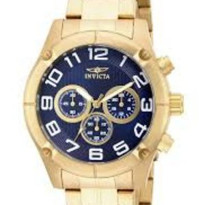 NEW Invicta Specialty 15371 Men's Gold Tone With B